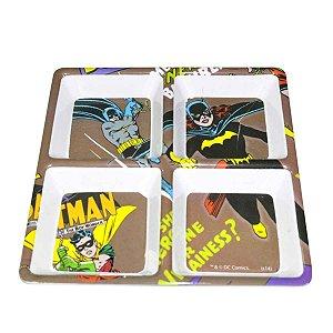 Petisqueira de Melamina Quadrada DC Comics Batgirl Batman Robin 4 Divisórias