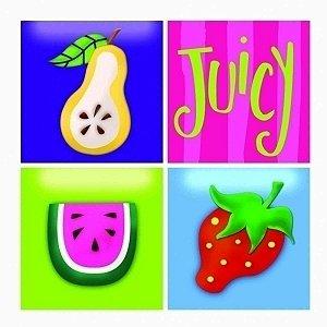 Conjunto de Quadros Frut 4 Peças