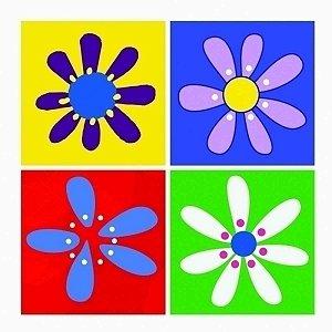 Conjunto de Quadros Flor 4 Peças