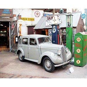 Tela Carro Cinza e Bomba de Gasolina