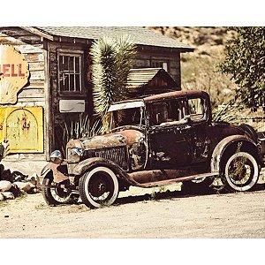 Tela Old Jalopy Vintage Marrom