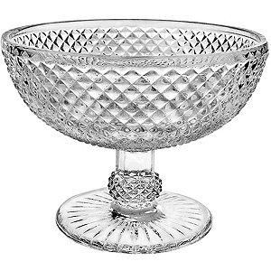 Bowl de Vidro Transparente Bico de Jaca
