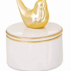 Caixa Redonda Pássaro Dourado