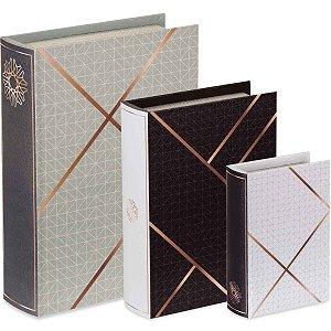 Kit Livro Caixa 3 Peças
