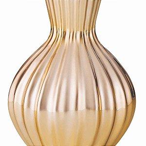 Vaso Decorativo Dourado Cerâmica