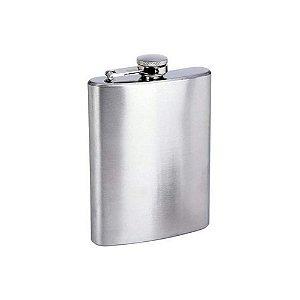 Cantil Garrafa de Bolso em Inox Porta Bebida Whisky Vodka 200ml