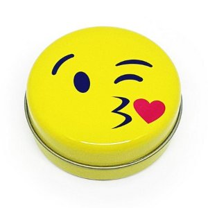 Latinha Emoticon Emoji Beijinho com Amor