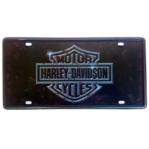 Placa Decorativa de Metal Harley Davidson
