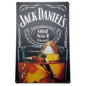 Placa Decorativa de Metal Jack Daniels
