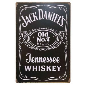 Placa Decorativa de Metal Jack Daniels Jennessee Whiske