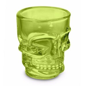 Copo-Shot-Caveira-Skull-Dose-50ml-Verde-Limao