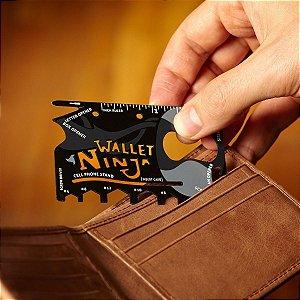 Cartão Wallet Ninja Ferramentas 18 em 1