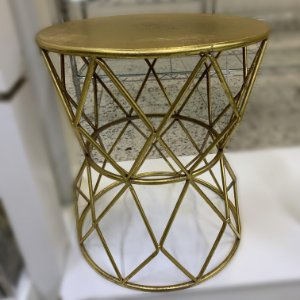 Mesa Lateral Aruna Metal Dourado
