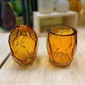 Vaso Miah 17 x 12 cm Vidro Âmbar
