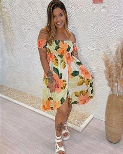 Vestido Ciganinha Lastex - Lima Floral