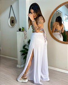 Pantalona Fenda Lateral - Branca