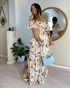 Vestido Luiza Longo - Floral Verdinho