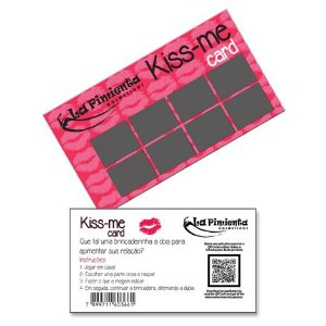 RASPADINHA ERÓTICA - KISS-ME CARD
