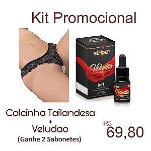 KIT PROMOCIONAL CALCINHA TAILANDESA + VELUDÃO( GANHA 2 SABONETE INTIMO)