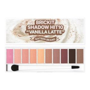 [16 BRAND] Bricket Shadow Hit 10 Vanilla Latte Eyeshadow Palette