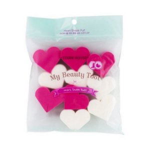 [ETUDE HOUSE] My Beauty Tool Heart Shaped Sponge - (10 esponjas)