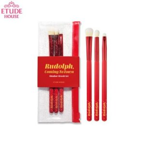 [ETUDE HOUSE] Rudolph Coming To Town Shadow Brush Set - (3 pincéis)