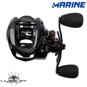 Carretilha Marine Sports Lubina Black Widow GTX 11 Rol 9.5:1 Drag 7.5K Esquerda