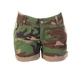 Bermuda Army Barra Virada Fox Boy- Black Green
