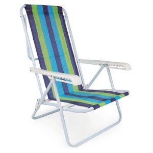 Cadeira Reclinável 8 Posições Bel - Alumínio