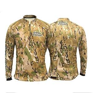 Camisa Com Proteção Rock Fishing -Camo Desert - EX