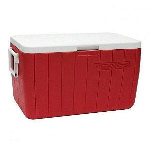 Caixa Térmica Coleman 48QT / 45,4L - Vermelho