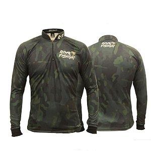 Camisa Com Proteção Rock Fishing - Camo Black Military II