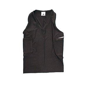 Camisa Tática C/ Coldre Regata Fem. Preto-Destro