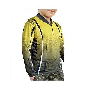 Camiseta C/ Proteção MTK Atack Z Infantil F.35-Yellow