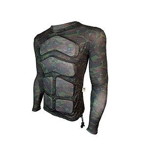 Camiseta Flutuante Mag. Longa 120 Kg- Camuflada