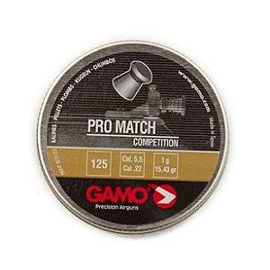 Chumbinho Gamo Pro Match Diabolô 5.5MM C/125