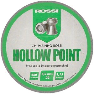 Chumbinho Rossi Hollow Point 5,5MM 250 UN