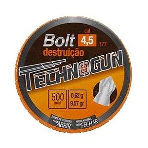 Chumbinho Technogun Bolt Destruição 4.5MM C/500