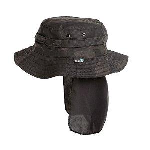 Chapéu Rip Stop Com Aba-Multicam Black