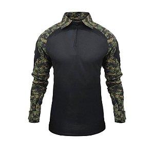 Combat Shirt Raglan -Preto/Marpat