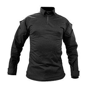 Combat Shirt Raglan- Preta/Preta