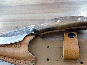 Faca Canivete Dal Castel Aço Inox 1070 Cabo De Madeira R.468