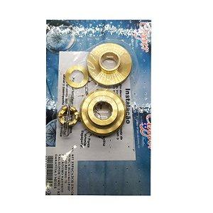 Kit Espaçador /Encosto /Porca Suzuki 15 HP