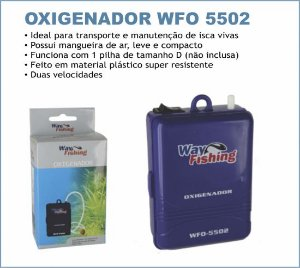 Oxigenador Air Pump Way Fishing Wfo 5502