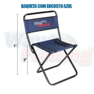 Cadeira Banqueta Way Fishing  P WFL10 C/ Encosto- Azul