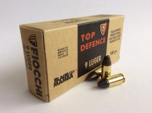 MUNICAO FIOCCHI CAL . 9 MM LUGER 100 GRAINS BLACK MAMBA FMJTC CONICA