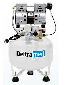 COMPRESSOR DE AR DELTRAMED - D30L 110V - PISTAO ISENTO OLEO