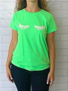 T-Shirt Verde Neon Cílios
