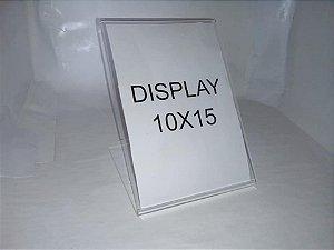 Display de mesa em acrílico 10x15 com 10 unidades