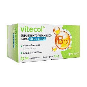 Suplemento Vitamínico para Cães e Gatos Vitecol 30 Comprimido